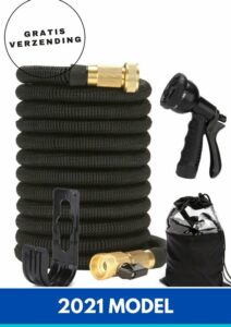 Flexibele Tuinslang 30 Meter - Premium Quality - Magic Hose - Zwart - Uitrekbaar