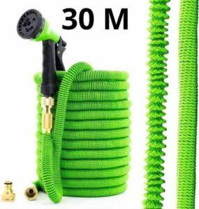 J.E Extreem Sterke Elastische Flexibele Tuinslang - 30 meter - Sproeier voor Tuin - Tuinslang
