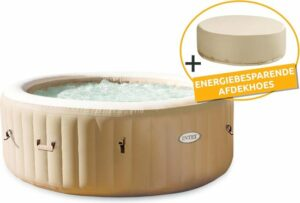 Intex PureSpa Bubble Massage Energy Plus met Energy Efficient Spa Cover
