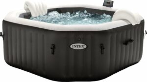 Intex PureSpa Jet & Bubble Deluxe Octagon + Hard Water Systeem + Zoutwatersysteem 4 persoons