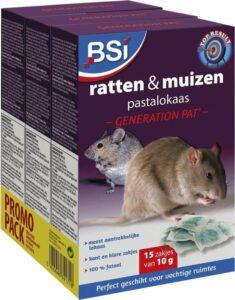 BSI rattenvergif pastalokaas generation Pat 3 x 150 = 450 gram