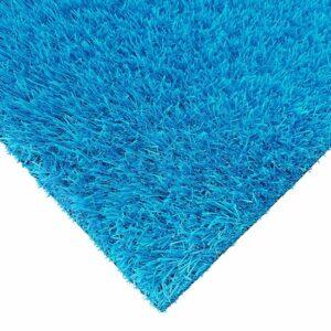 Blauw kunstgras - Kunstgras Tapijt RAINBOW Ocean Blue - 100x400cm - 25mm