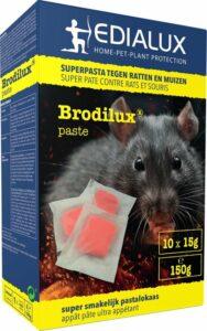 Brodilux pasta 150gr - rattengif - tegen ratten