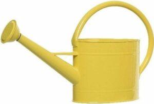 Gele metalen gieter 2,5 liter - Tuinieren benodigdheden - Kleine gieters geel