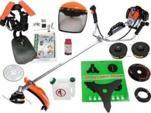 Midori Japan Grasmaaier - Benzine Grastrimmer - Met Beschermhelm - Inclusief Accessoires