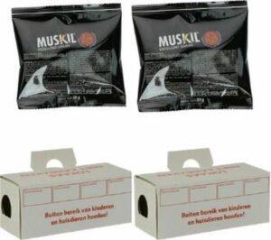 Muskil - Muizen gif set - Bestrijding van ratten - Inclusief gif en gifdoosjes