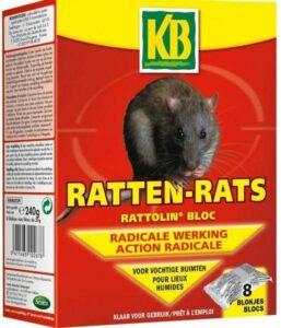 Rattengif 8 blokjes voor vochtige ruimte - set van 32 stuks