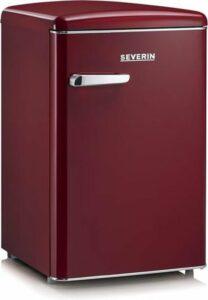 Severin RKS 8831 - Retro Tafelmodel Koelkast - wijn rood