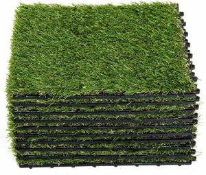 Sunny Kunstgrastegels groen 10 stuks 30 x 30 x 3,5cm