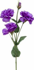 Viv! Home Luxuries Lisianthus - zijden bloem - paars - 68cm - topkwaliteit