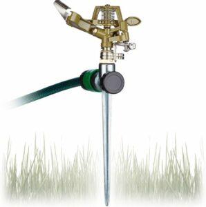 relaxdays pulserende tuinsproeier - sectorsproeier - cirkelsproeier - sprinkler - 360°