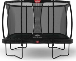 BERG Trampoline Ultim Champion Regular 330 x 220 cm rechthoekig met Safetynet DeLuxe - zwart - met Airflow - Twinspring - Black Limited Edition