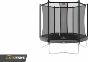BERG trampoline Favorit Regular 330 grijs + Safety Net Comfort