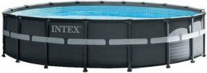 Intex Opzetzwembad Met Accessoires Ultra Xtr Frame 549 X 132 Cm Antraciet