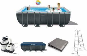 Intex Opzetzwembad - Ultra XTR Frame - 549 x 274 x 132 cm - Antraciet - Met asccessoires