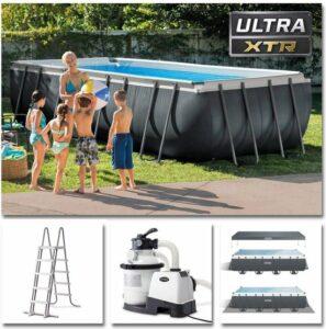 Intex zwembad rechthoekig Ultra XTR Frame 549x274x132 cm met zandfilter en accessoires 26356GN