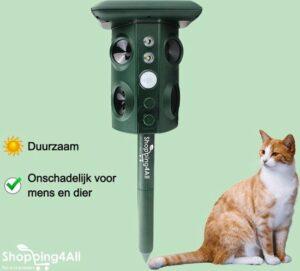 Kattenverjager - Kattenschrik - Muizenverjager - Vogelverjager - Marterverjager - Ultrasoon - Zonne-energie - Oplaadbaar - 220 graden - Shopping4All