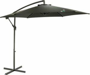 MaxxGarden Parasol - Zweefparasol - Ø300 cm - Frame royal grey - Zwart