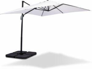 MaxxGarden Zweefparasol - tuin en balkon parasol - verstelbaar - 250 cm - WIT