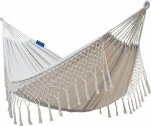 Potenza - hangmat -2 persoons 220x 160cm - inclusief 2x touw - crème