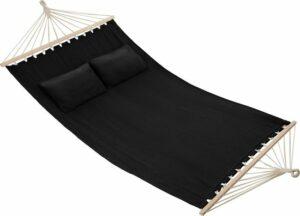 tectake - 2 persoons hangmat Eden zwart - 403565