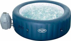 Bestway Lay-Z-Spa Milan - Jacuzzi - Opblaasbaar - Zwembad - Hottub - Zwembadbescherming - Massagefunctie - Bruin - 196 x 196 cm
