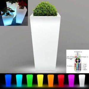 Bloempot plantenbak vierkant LED verlichting 16 kleuren