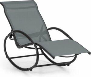 Blumfeldt Santorini schommelstoel ligstoel , aluminium , 70% PVC en 30% polyester , 3 verstelbare ligstanden