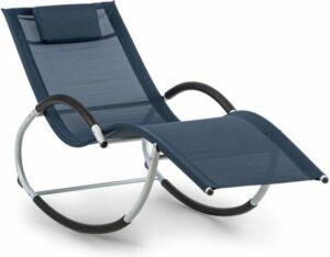 Blumfeldt Westwood Rocking Chair schommel-ligstoel ergonomisch aluminium donkerblauw