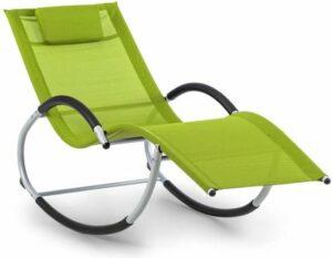 Blumfeldt Westwood Rocking Chair schommelstoel , verandert tuin, terras of balkon in een oase van ontspanning , groen