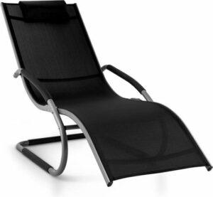 Blumfledt Sunwave tuinstoel ligstoel schommelstoel voor de tuin , Relax aluminium , rond verenframe met schommeleffect