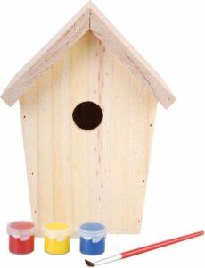 Esschert Design - Doe Het Zelf Nestkastje Met Verf - 15 x 12 x 20 cm