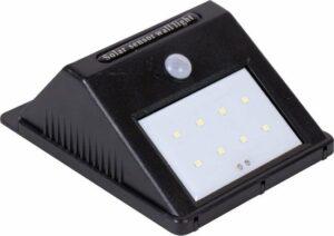 Eurocatch Outdoor Wandlamp - Buitenlamp Zonne-energie met sensor - Solar lamp - Zwart