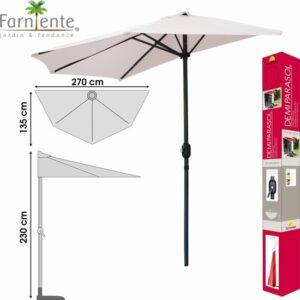 Farniente - Balkon Parasol Demi 270x135x230cm Zandkleur - Urban Living Parasol