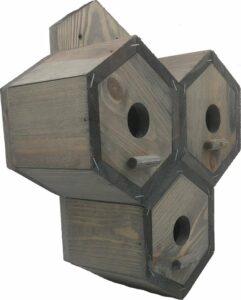 GARDEN SPIRIT - Vogelhuisje Mus - Nestkast 25 x 30 x 11 cm - Grijs