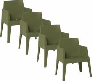 Garden Impressions - Box tuin stoel donker groen - 4 stuks