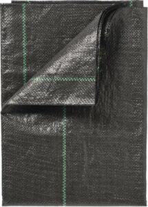 Gronddoek - Zwart - 5 x 4.20 mtr - 100 gr pm² met lijnen