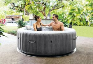 Intex Pure Spa Greywood Deluxe vier persoons