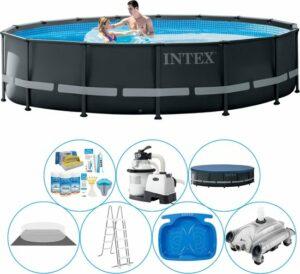 Intex Ultra XTR Frame Rond 488x122 cm - Zwembad Bundel