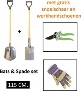 Kellux- Bats & Spade set 115cm - met gratis Snoeischaar en Werkhandschoenen