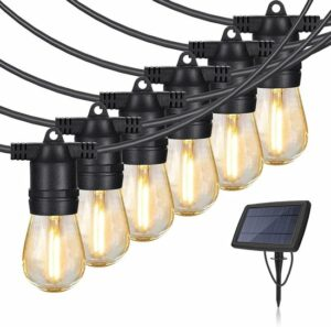 LED Feestverlichting - Zonne-Energie - lichtsnoer - 7meter - Warm Wit - Waterdicht - incl 10 lampen