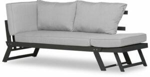 Lanterfant® Loungebank Lars - Aluminium - Antraciet - Uitklapbaar