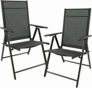 Maxx 2x aluminium tuinstoel - tuin stoel zwart - zwart
