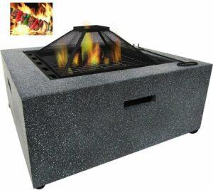 MaxxGarden Arcas Barbecue - Vuurschaal Terrashaard - MgO tuinhaard - vuurtafel 70 x 70 x 42cm