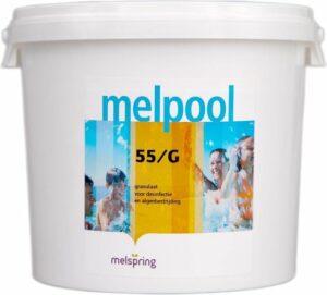 Melpool 55G - granulaat 5 kg - Jacuzzi chloor - Jacuzzi granulaat - Spa onderhoudsproducten - Spa chloor - Jacuzzi onderhoudsproducten