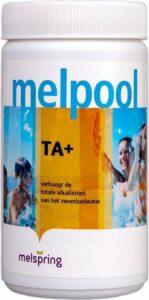 Melpool TA+ - alkaliteit poeder (1 kg) - Jacuzzi chloor - Spa chloor