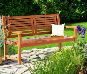 Monzana Tuinbank - Eucalyptus - hardhout - 120cm - FSC® gecertificeerd