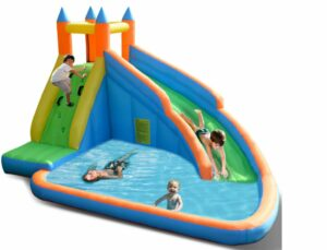 Opblaasbare Waterglijbaan & Zwembad