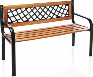 Relaxwonen - tuinbank - FSC hout - metalen frame