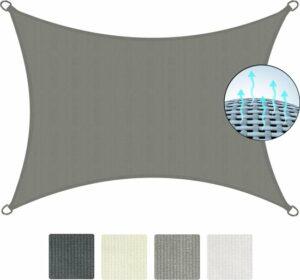 Sol Royal SolVision HS9 - Zonnezeil rechthoekig 300x400 cm HDPE Ademend - Grijs - Zonwering UV-bescherming